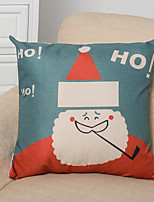 Holiday Merry Christmas Series Cartoon Cotton Linen Throw Pillow Case Home Decorative Cushion Cover Pillowcase(Contain pillow inner)