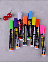 Fluorescent Glow Plates 8 Color Pen(8PCS)