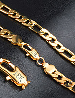 Necklace Chain Necklaces Jewelry Wedding Party Daily Casual Christmas Gifts Fashion Sexy Gold Men 1pc Gift Gold