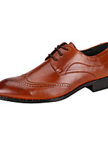 Men's Fashion Bullock Caved Shoes Wedding Shoes Comfort Oxfords Leather Shoes For Business Low Heel Lace-up EU38-42