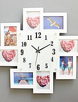 Модерн Домики Настенные часы,Квадратный Стекло / Дерево 52*52cm В помещении Часы