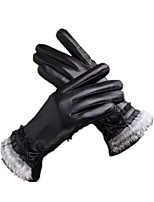 Leather Touch Screen Glove (Black XL)