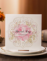 Personalized Folded Wedding Invitations Invitation Cards-50 Piece/Set Pearl Paper