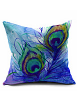 Feather Cotton Linen Throw Pillow Case Home Decorative  Cushion Cover Pillowcase Car Pillow cover(Set of 1)