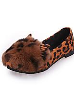 נשים-נעליים ללא שרוכים-PU-נוחות-שחור / חום / אפור-קז'ואל-עקב שטוח