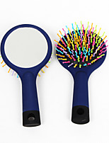 Wig Brushes & Combs Wig Accessories Plastic 1 Wigs Hair Tools Rainbow Wave Curl Air Volume Brush Massage Comb