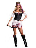 Cosplay Costumes Pirate Movie Cosplay Black Solid Dress / Headwear Halloween / Carnival Female Polyester