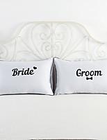 2 ks Bavlna / Polyester Polštářový potah / Povlak na polštář / Polštář na postel,Novinka Módní a moderní / Zvýraznění / dekorace