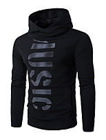 Men's Casual/Daily Simple Regular Hoodies Letter  Hooded Long Sleeve Cotton Spring / Fall Medium Hoodie