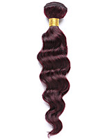 1PC TRES JOLIE Deep Wave 10-14Inch Color #99J Red Wine Human Hair Weaves