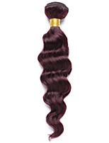1 Peça Onda Profunda Tramas de cabelo humano Cabelo Indiano 85-90g 10-14Inch Extensões de cabelo humano