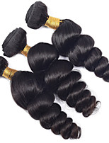 Natural Color Hair Weaves Peruvian Texture Loose Wave 12 Months 3 Pieces hair weaves