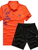 Running Clothing Sets/Suits Women's Short Sleeve Breathable / Quick Dry / Sweat-wicking Leisure Sports / Running Sports Sports Wear