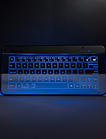 Bastron Wireless Bluetooth Transparent Glass Keyboard with Mousepad Mouse function Gestures