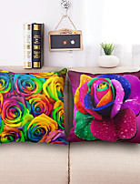 Flower Cotton Linen Throw Pillow Case Home Decorative  Cushion Cover Pillowcase Car Pillow cover(Set of 2)