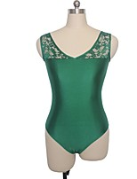 Ballet Leotards Women's / Children's Performance Nylon / Lace / Lycra Lace 1 Piece Sleeveless Leotard