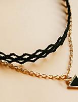 женщина серебряный сплав кружева треугольник омаров застежка ножной