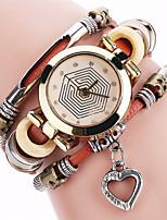 Жен. Модные часы Часы-браслет Уникальный творческий часы Повседневные часы Имитационная Четырехугольник Часы Китайский Кварцевыйсплав