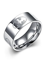 Ring Non Stone Halloween / Party / Daily / Casual Jewelry Stainless Steel Men Ring 1pc,7 / 8 / 10 Silver