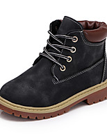 Boy's Martin Boots Spring / Fall / Winter Comfort / First Walkers Leather Outdoor / Combat Boots / Casual Low Heel Lace-up Black / Brown Walking
