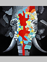100% Hand-Painted Elephant Animal Oil Paintings On Canvas Modern Abstract Wall Art Picture For Home Decoration With Stretched Frame Ready To Hang