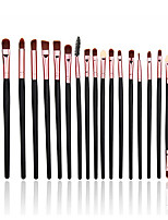 20 Makeup Brushes Set Nylon Portable Wood Face / Eye / Lip Others