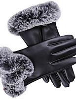 Сенсорный экран женские перчатки (черные)