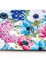 caixa do computador macbook da flor da aguarela para macbook air11 / 13 pro13 / 15 pro com retina13 / 15 macbook12