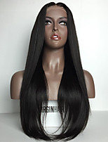 8A Grade Silky Straight Unprocessed Glueless Lace Front Wigs Brazilian Human Hair Wigs for Women