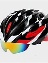 Unisex Mountain  Road Bike helmet 25 Vents Cycling Cycling  Mountain Cycling  Road Cycling One Size PC  EPS Black  Blue