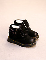 Boy's Boots Comfort Leather Casual Black / Khaki