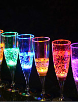 Champagne Glass Luminescence Glass 6.8*18CM Random Color