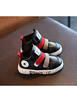 Boy's Flats Winter Others Leatherette Outdoor / Athletic Flat Heel Magic Tape Black / Red / Gray Sneaker