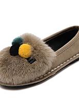 Women's Loafers & Slip-Ons Winter Comfort Fleece Casual Black Gray Khaki