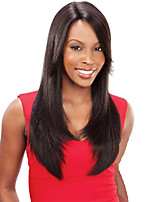 Dark Brown #2 Invisible Deep Lace L Part Human Hair Straight 20inch Human Hair Lace Front Wigs