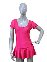 Ballet Dresses Women's / Children's Training Nylon / Lycra Ruffles 1 Piece Short Sleeve Dress