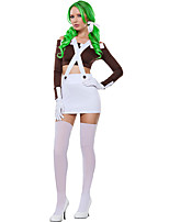 Cosplay Costumes Cosplay Movie Cosplay Coffee Solid Top / Skirt / Gloves Halloween / Carnival Female Polyester
