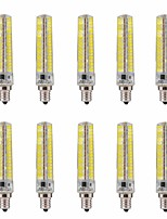 15W E12 Ampoules Maïs LED T 136 SMD 5730 1200-1400 lm Blanc Chaud / Blanc Froid Gradable / Décorative V 10 pièces