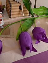 1 1 Ramo Plástico / Outras Tulipas / Plantas / Outras Flor de Mesa Flores artificiais