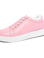 Черный Розовый-Женский-Повседневный-Полиуретан-На плоской подошве-Удобная обувь-Кеды
