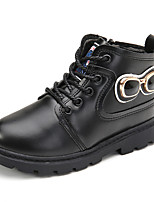 Boy's Boots Comfort PU Casual Black / Yellow / Coffee