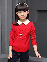 Girl Casual/Daily / Sports / Holiday Print Sweater & Cardigan,Wool / Cotton Winter / Spring / Fall Long Sleeve Regular