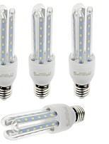 7W E26/E27 Ampoules Maïs LED T 36 SMD 2835 600 lm Blanc Chaud / Blanc Froid Décorative V 4 pièces