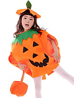 Halloween Children'S Pumpkin Makeup Show Clothes Pumpkin Hat Pumpkin Clothes