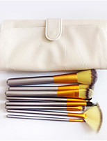 12 Makeup Brushes Set Pony / Synthetic Hair / Others Professional / Limits bacteria / Portable Wood Face / Eye / Lip Others