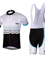 QKI Coisas Pro Cycling Jersey with Bib Shorts Men's Short Sleeve BikeBreathable / Quick Dry/Anatomic Design/reflective stripe/5D coolmax gel pad
