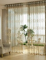 One Panel Curtain European , Flower Living Room Poly / Cotton Blend Material Sheer Curtains Shades Home Decoration For Window
