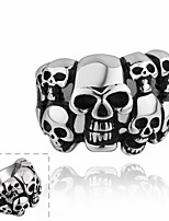Men Individual Character Skeleton Men of 316 Steel Ring Stainless Steel Ring Halloween Punk Style Hip-Hop (1 PC)