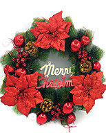 noël aiguilles de pin wreath ornements 50cm