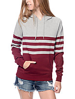 Women's Plus Size / Sports Simple / Sophisticated Long Hoodies,Solid Red / Black / Gray Hooded Long Sleeve Rayon All Seasons Medium